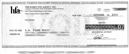 Royalty Check